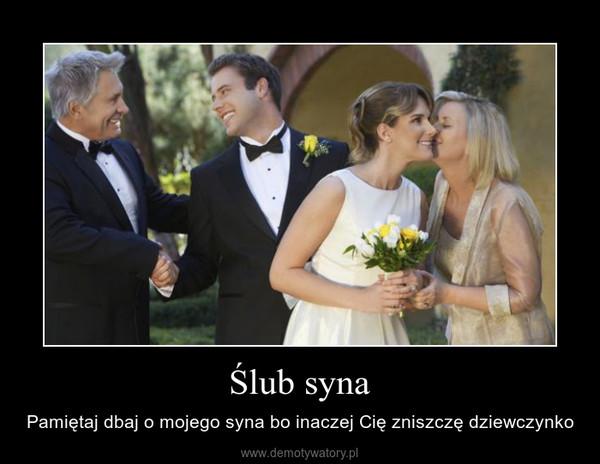ślub Syna Demotywatorypl