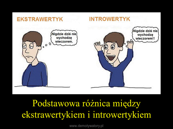 Podstawowa różnica między ekstrawertykiem i introwertykiem –