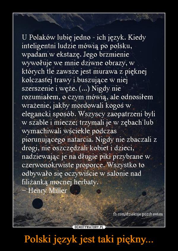 Polski język jest taki piękny... –